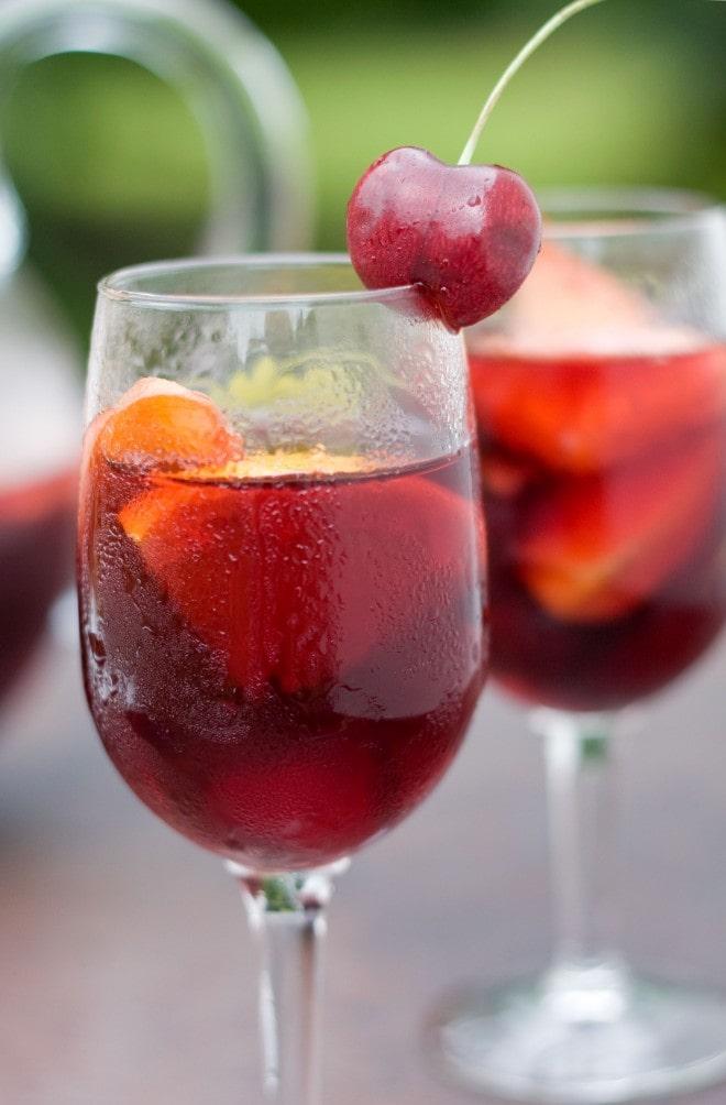 Red Cherry Sangria | Sweet-Remedy.com
