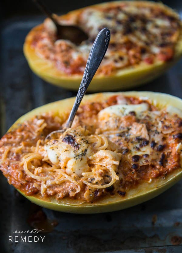 Spaghetti Squash Lasagna Bowls | Sweet-Remedy.com