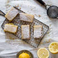 Lemon Bars with Brown Sugar Crust