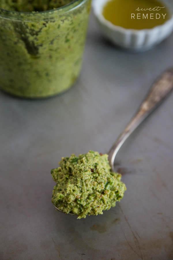 Garlic Scape Pesto-9