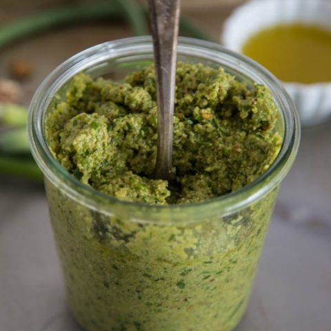 Garlic Scape Pesto
