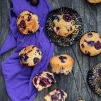 Blueberry Cherry Muffins