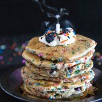 Blueberry Funfetti Pancakes