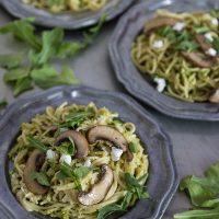 Garlic Scape Pesto Pasta