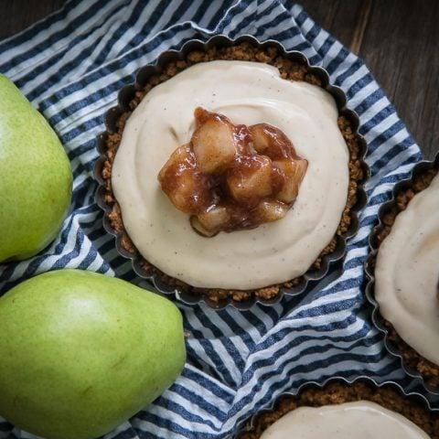 Pear Crème Fraîche Tart
