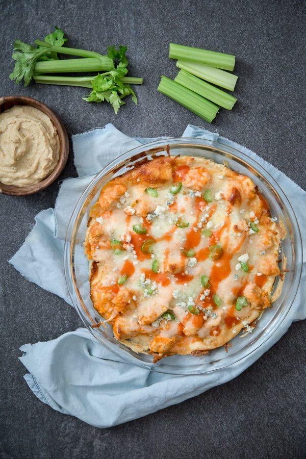 Buffalo Chicken Hummus Dip