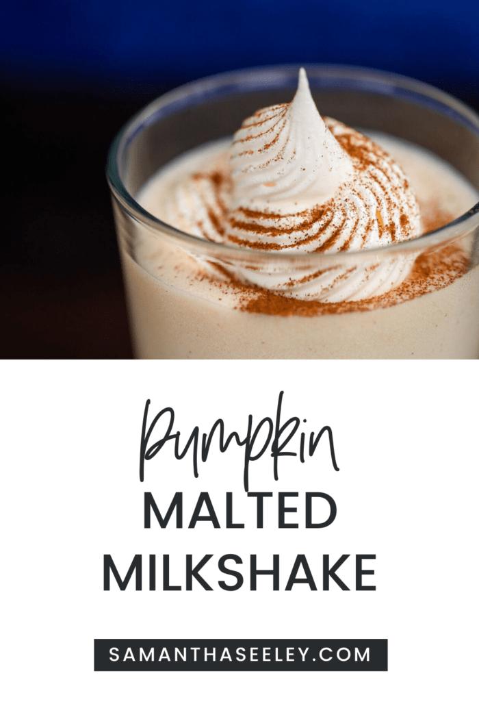 pumpkin malted milkshake