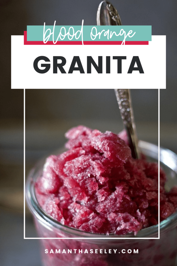 bright pink granita with spoon