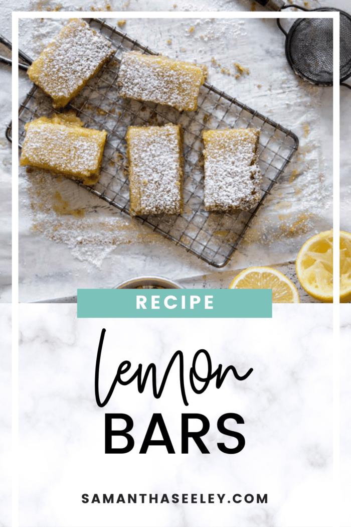 brown sugar lemon bars